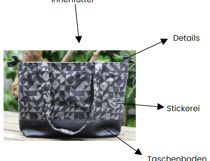 Wickeltasche: Details